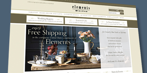 Elements Home Decor & Gifts: E-commerce Website