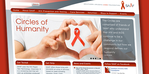 Southern Arizona AIDS Foundation: Website